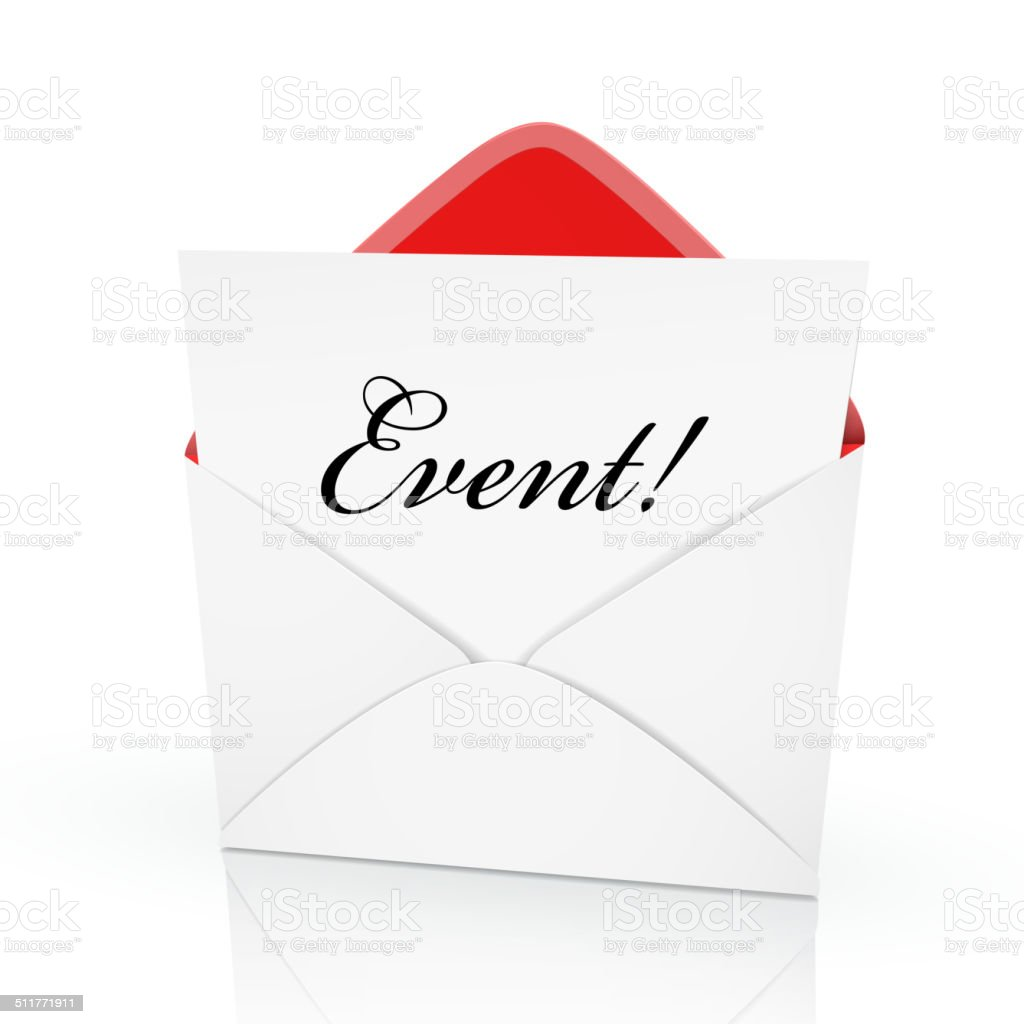 the word event on a card vector art illustration