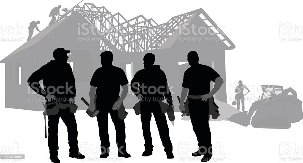 The Workers royalty-free stock vector art