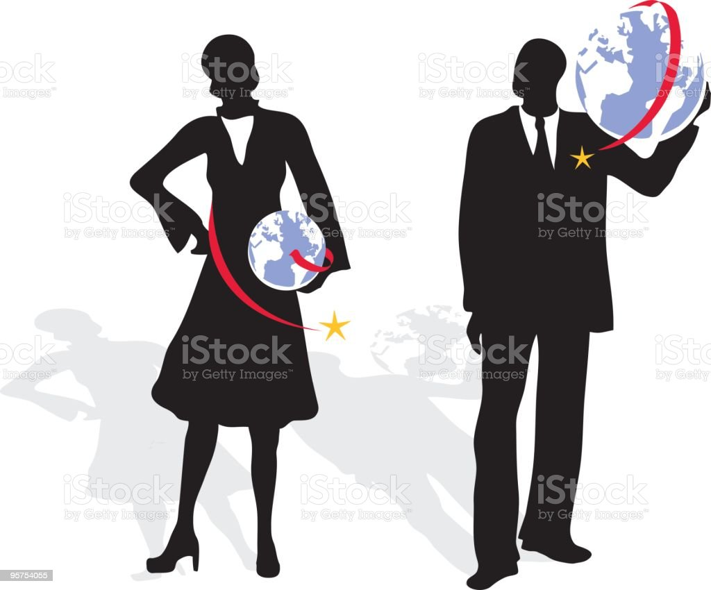 The World is in Your Hands royalty-free stock vector art