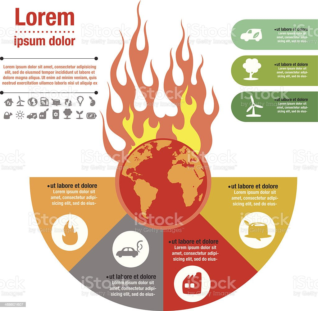 The World on Fire vector art illustration