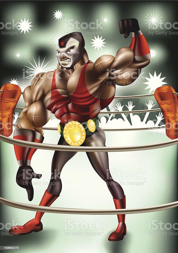 The Wrestler royalty-free stock vector art