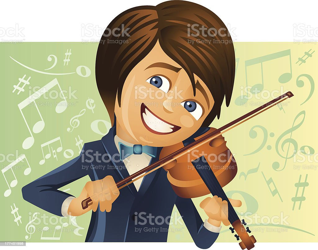 The young violinist royalty-free stock vector art