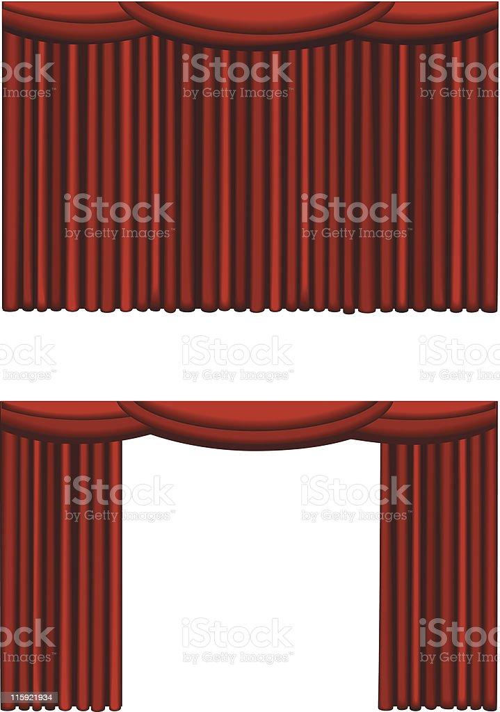 Theater curtain royalty-free stock vector art