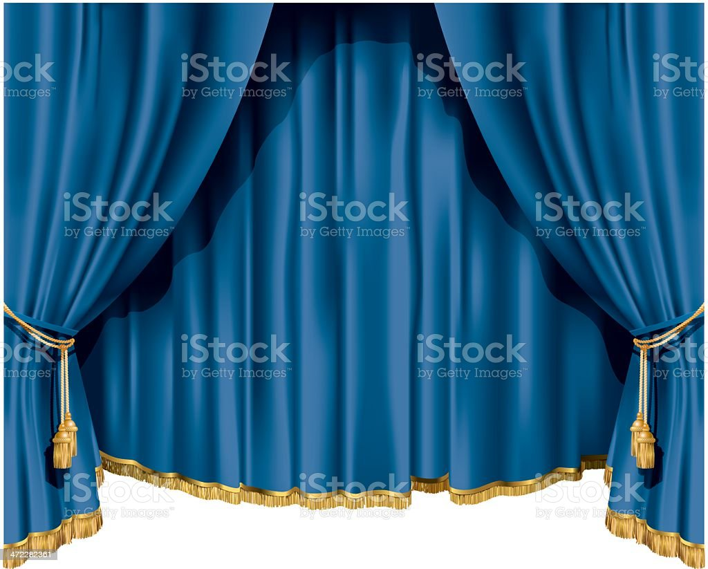 Theater curtains royalty-free stock vector art