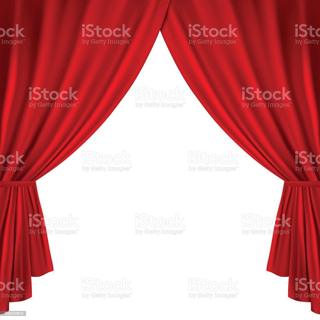 Theater curtains vector art illustration