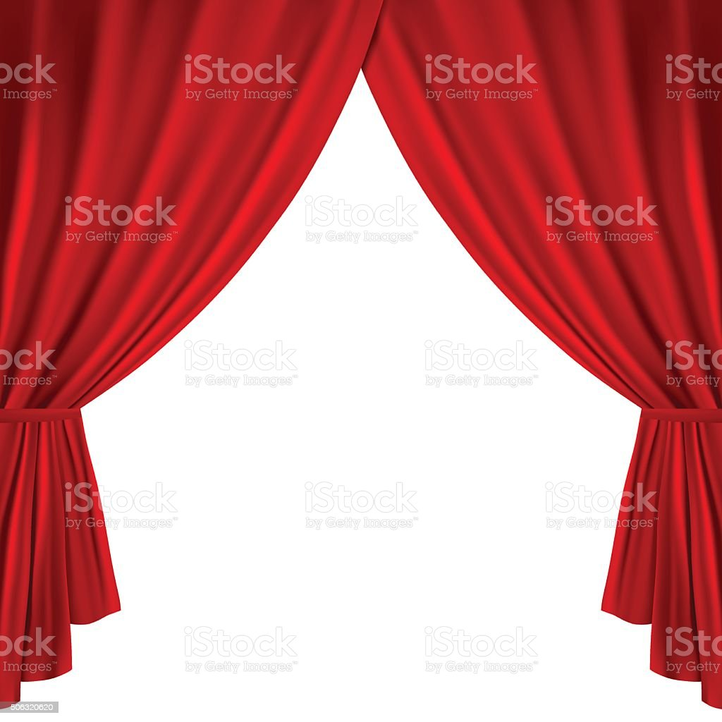 Theater curtains vector art illustration