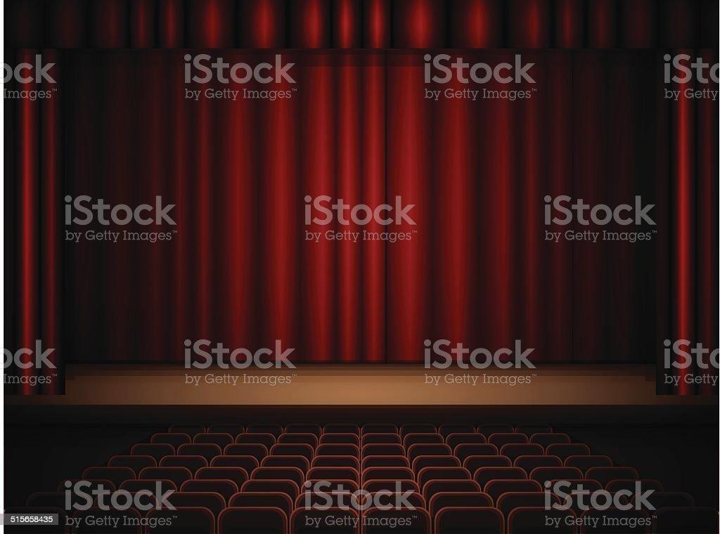 Intérieur du théâtre stock vecteur libres de droits libre de droits