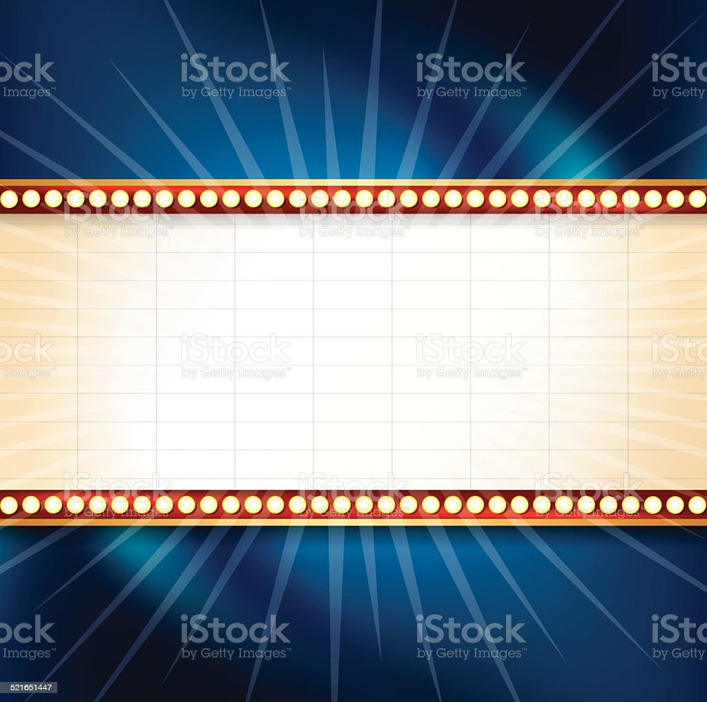 Theater Marquee Background vector art illustration