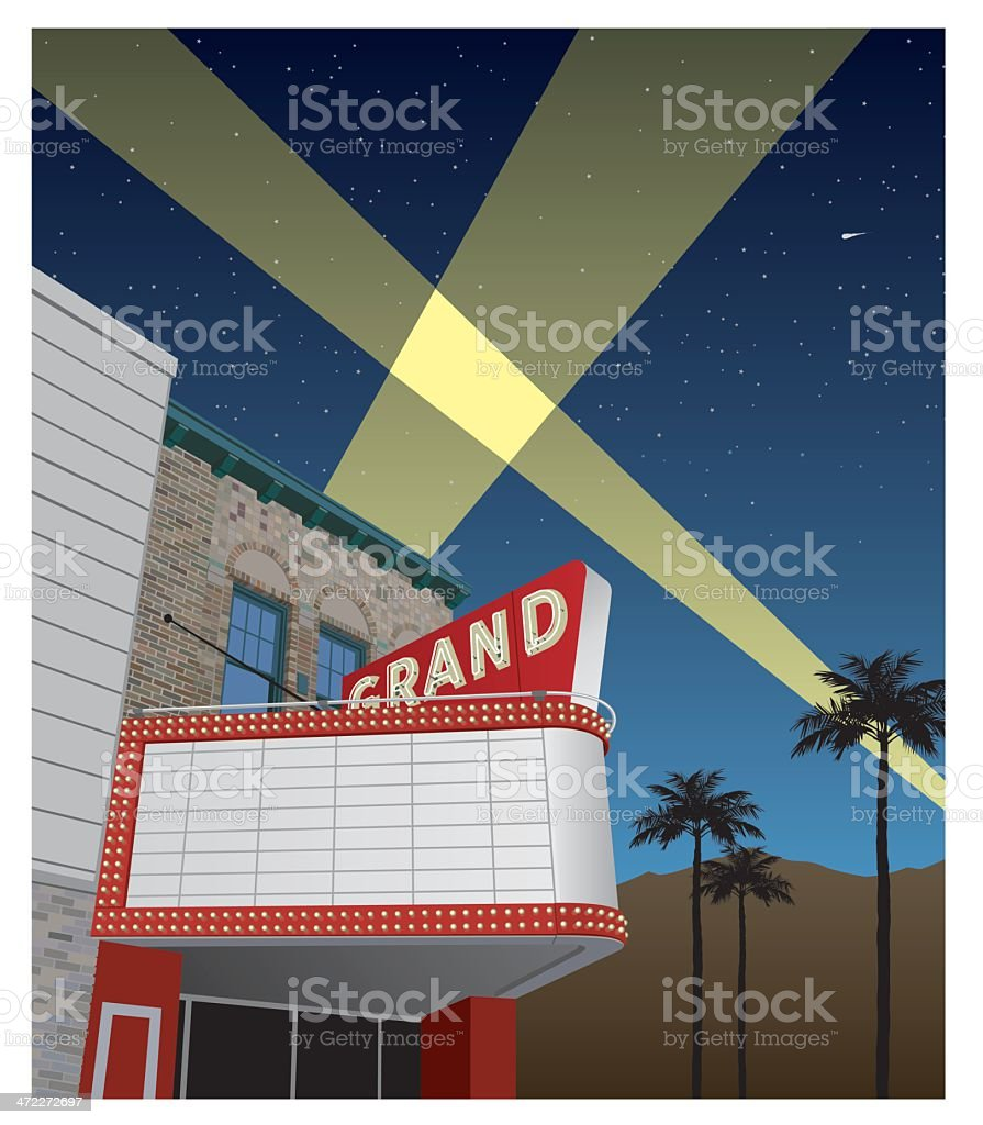 Theater Marquee Nostalgic royalty-free stock vector art