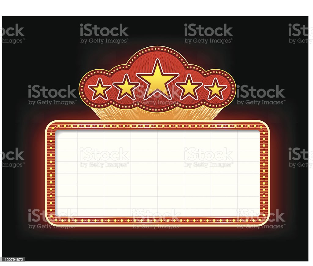 Theater Marquee Sign vector art illustration