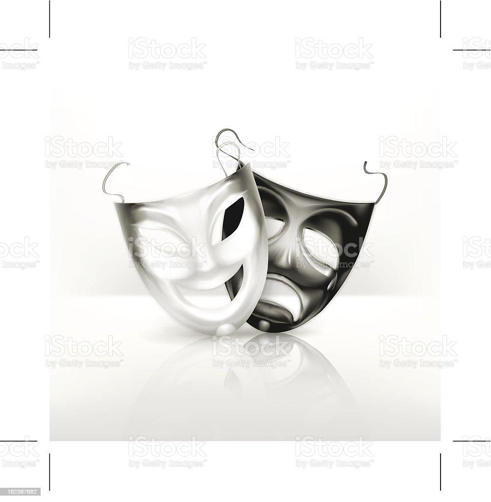 Theater masks royalty-free stock vector art
