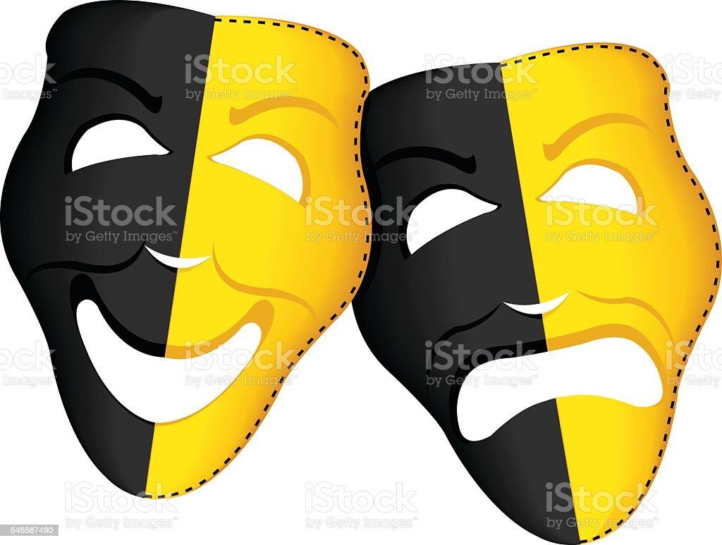 Theater Masks vector art illustration