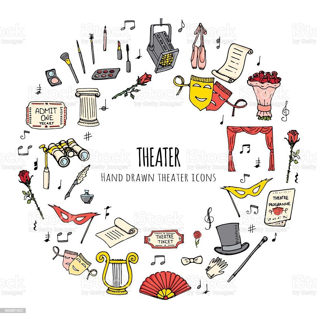Theater set vector art illustration