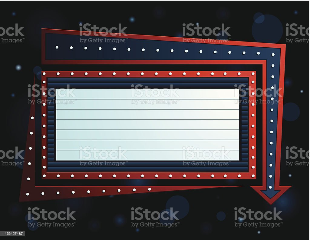 Theater Sign vector art illustration