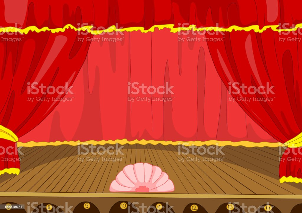 Theater Stage Cartoon royalty-free stock vector art