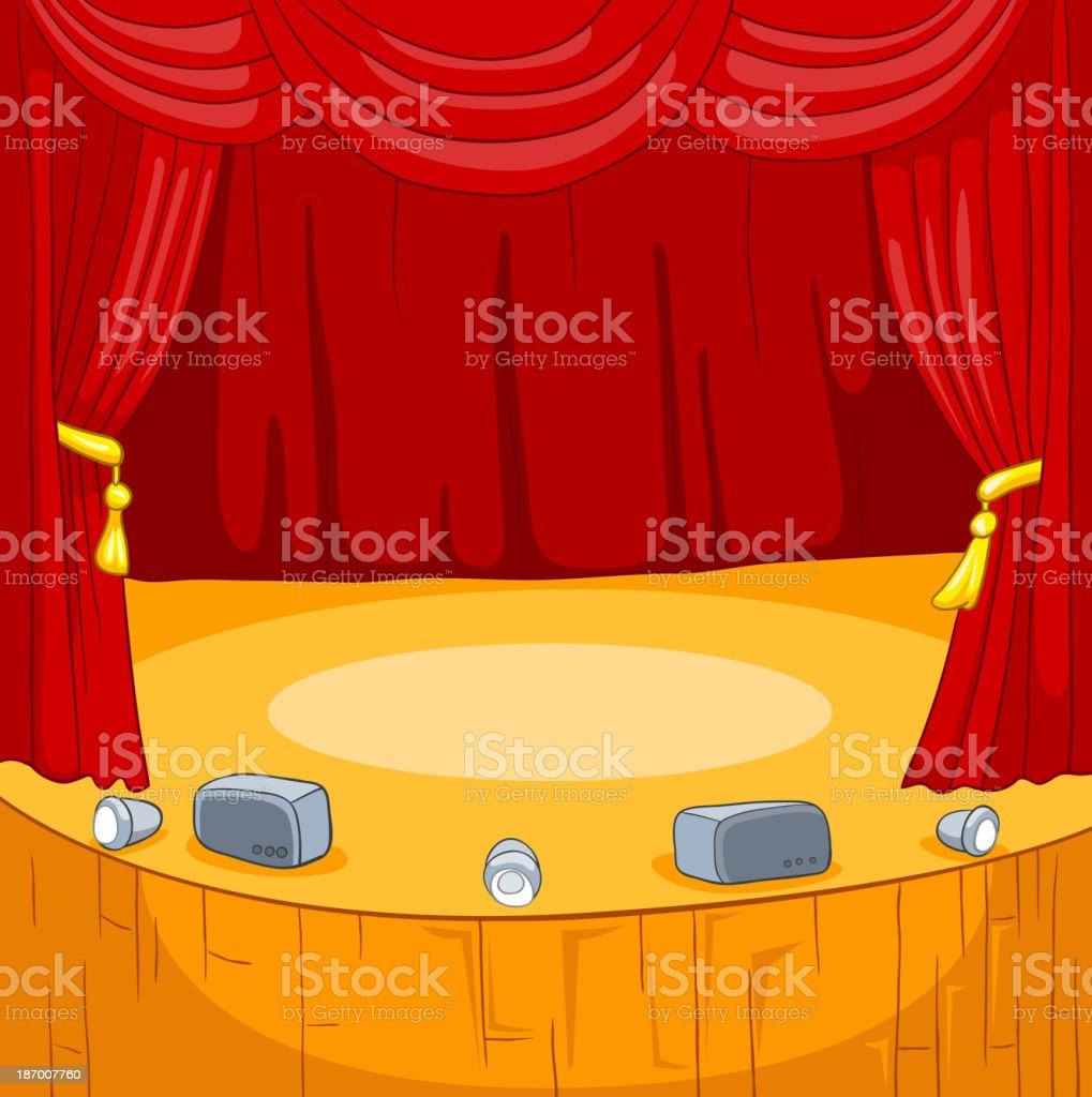 Th tre sc ne dessin anim stock vecteur libres de droits - Dessin de theatre ...