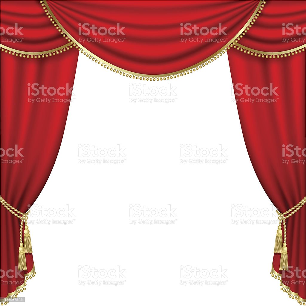 Theater stage. Mesh. royalty-free stock vector art