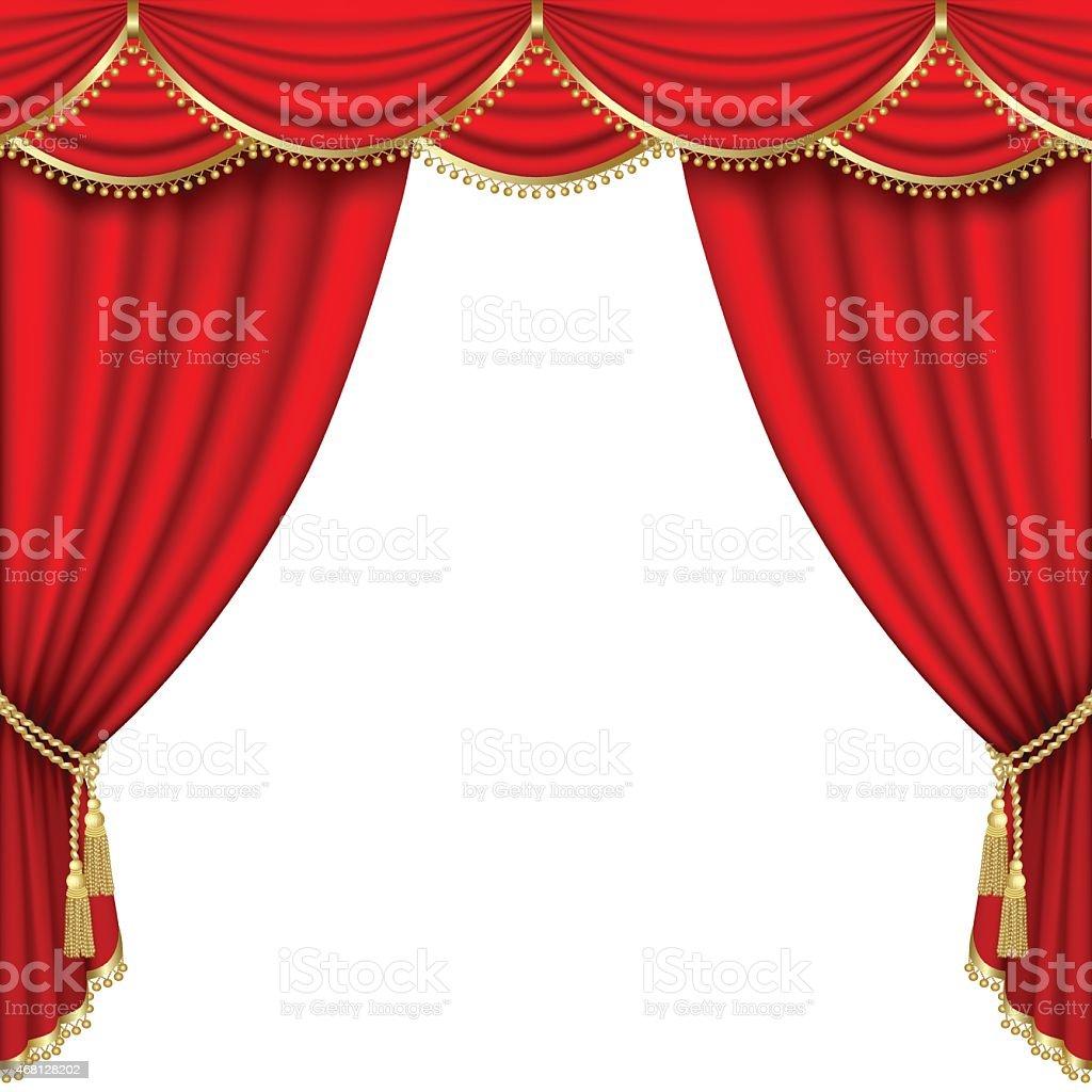 Theater stage. Mesh. vector art illustration