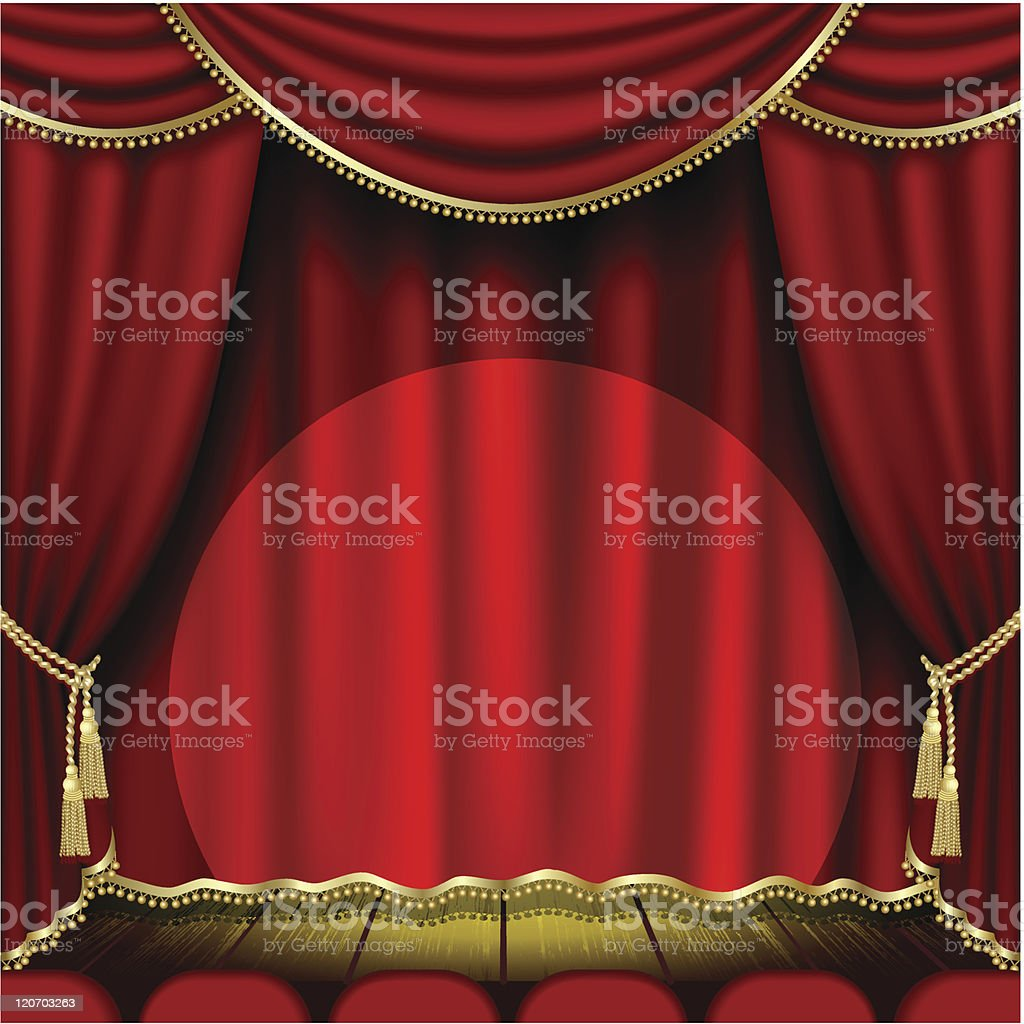 Theater stage royalty-free stock vector art