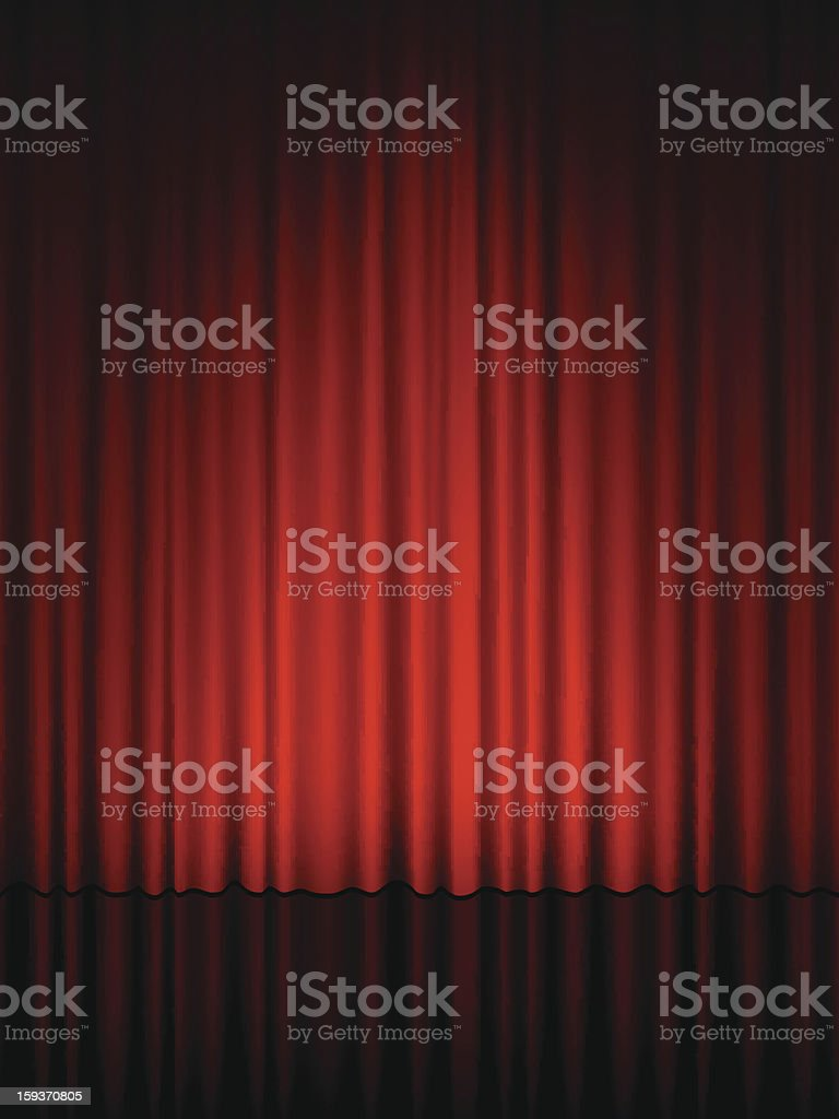 theatre curtain royalty-free stock vector art