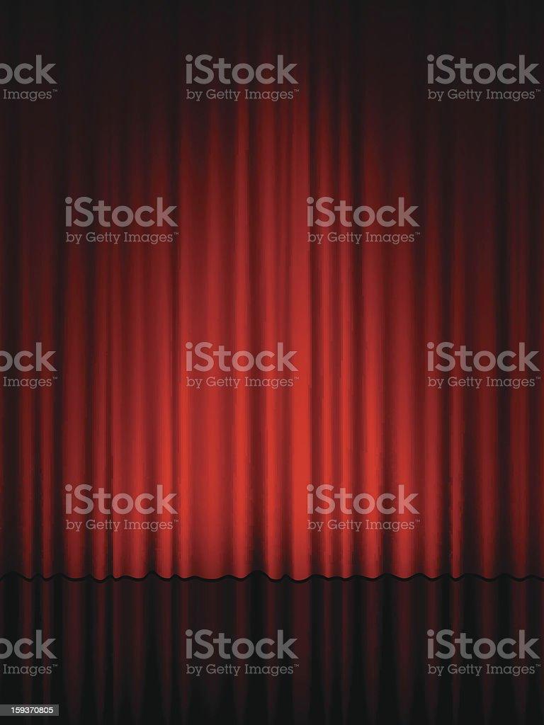 theatre curtain vector art illustration