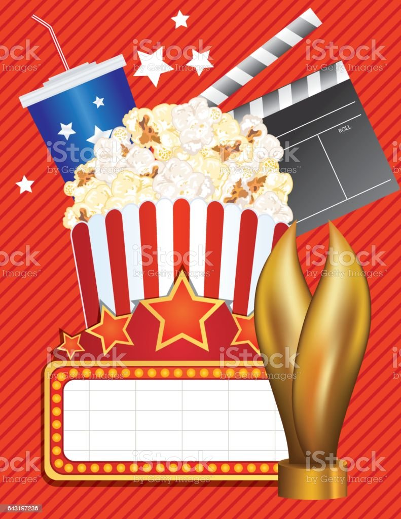 Theatre Elements And Marquee vector art illustration
