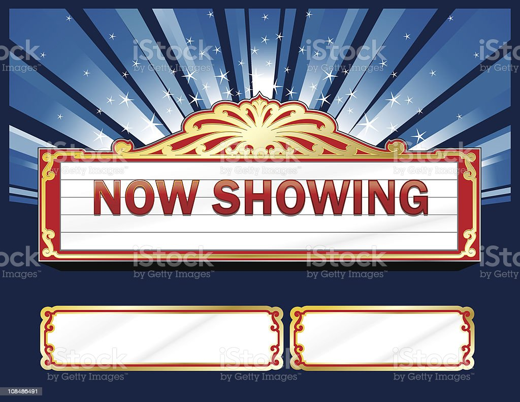 Theatre Marquee royalty-free stock vector art
