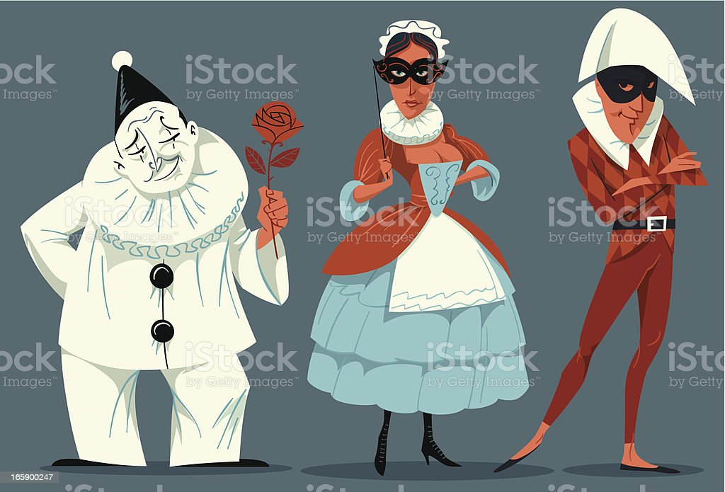 Theatre performers. royalty-free stock vector art
