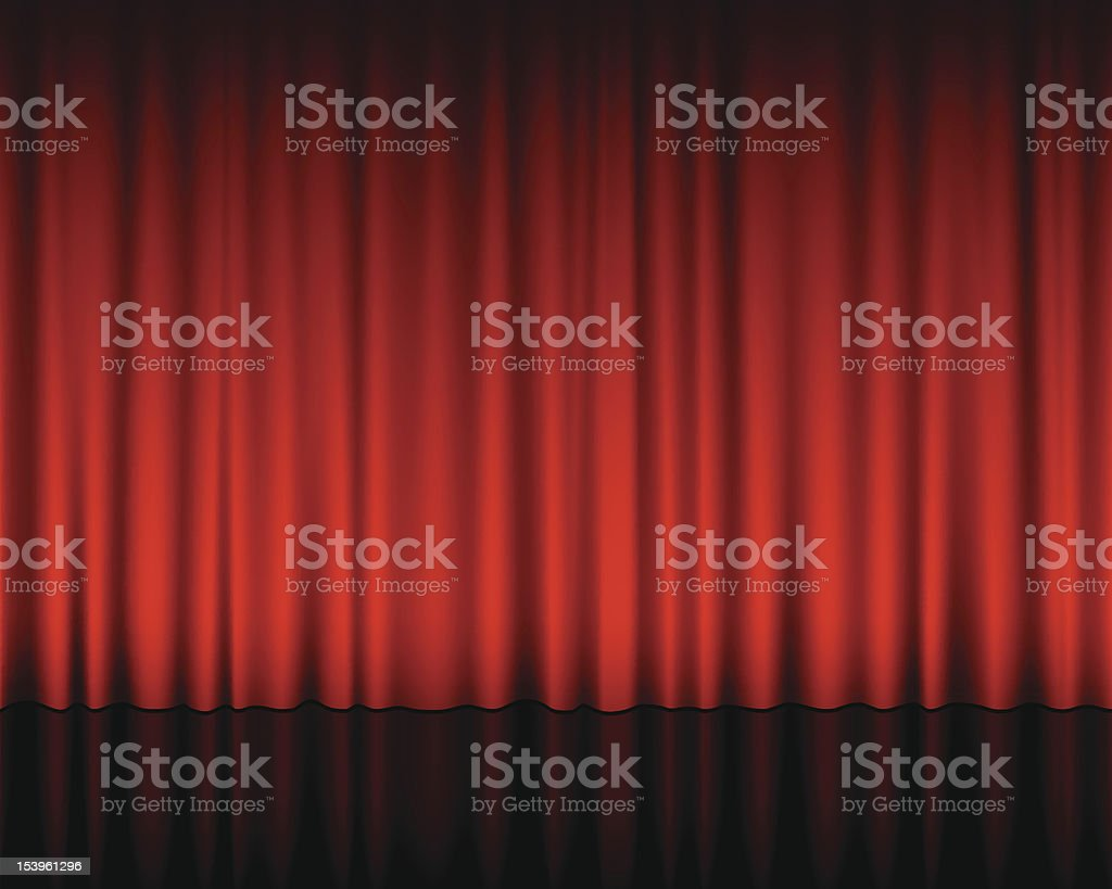 Theatre red curtains illustration royalty-free stock vector art