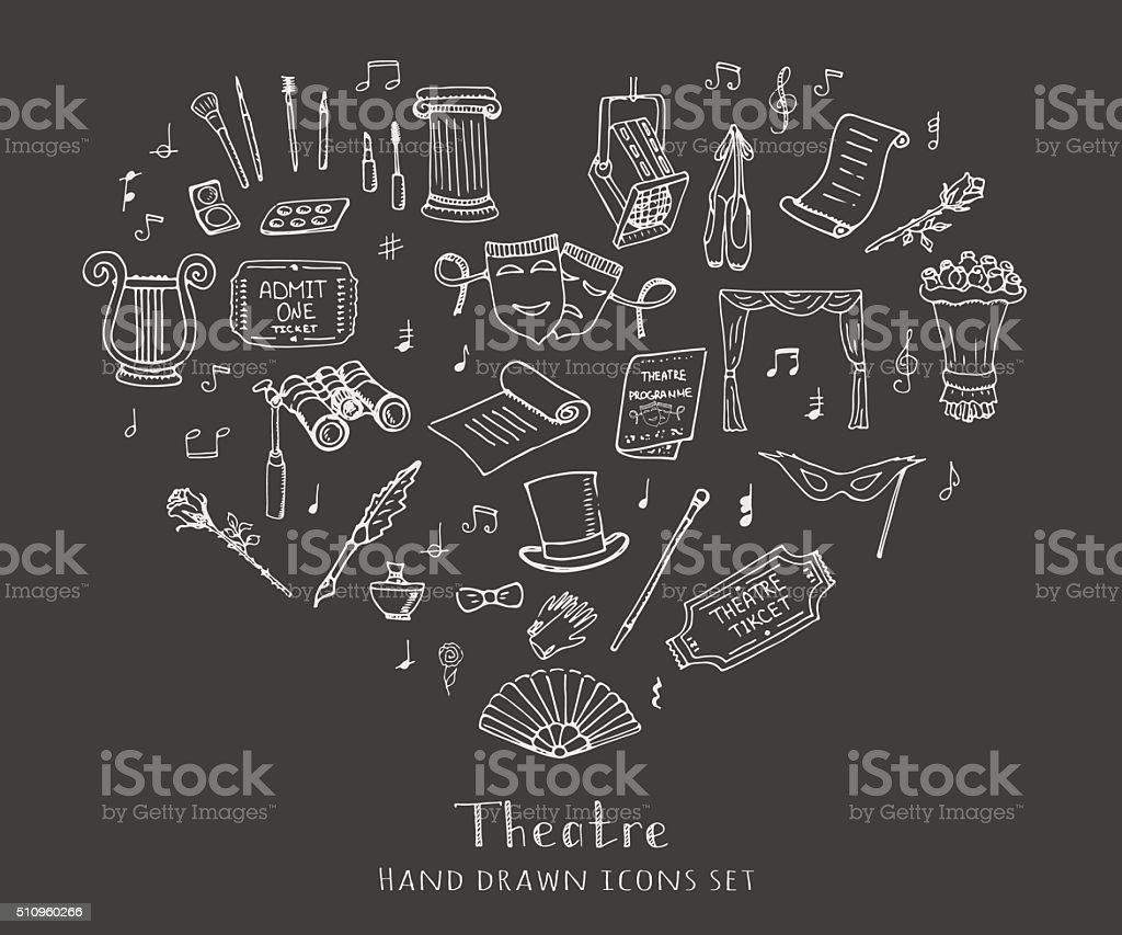 Theatre set vector art illustration