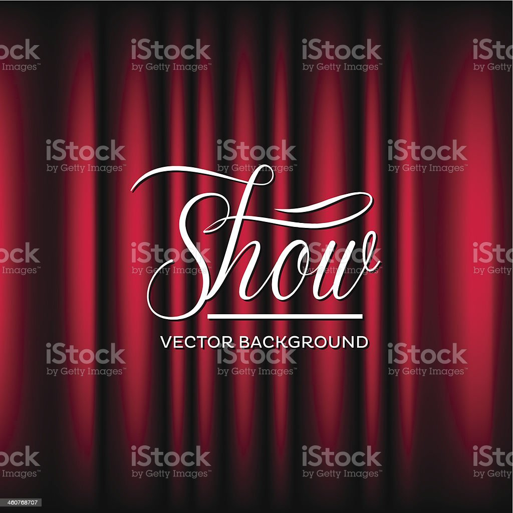 Theatre Show Vector Background vector art illustration