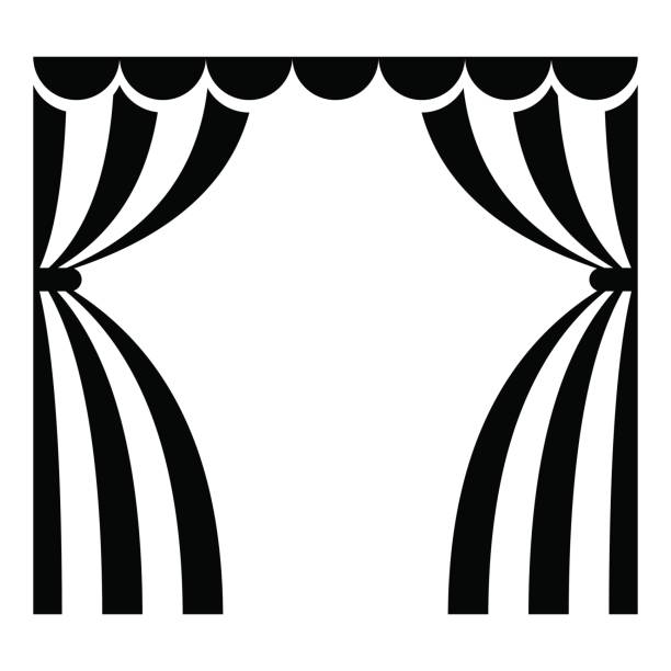Stage Curtain Clip Art, Vector Images & Illustrations