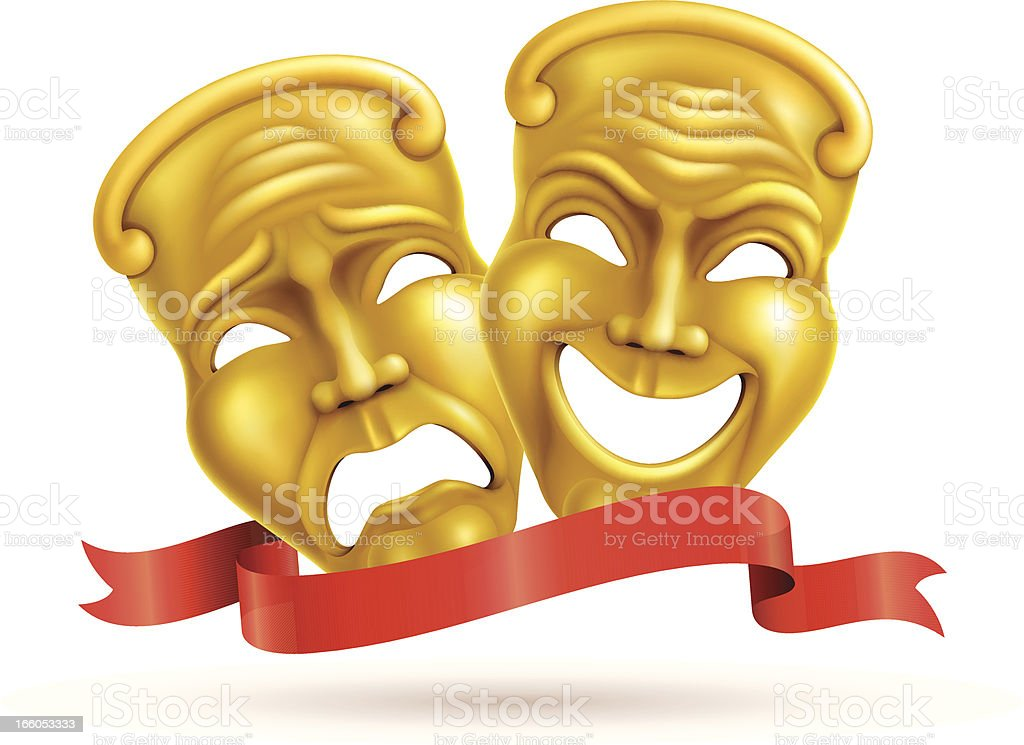 Theatrical masks royalty-free stock vector art