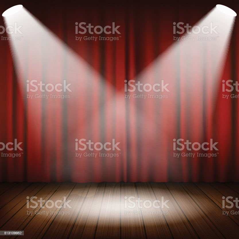 Theatrical scene vector vector art illustration