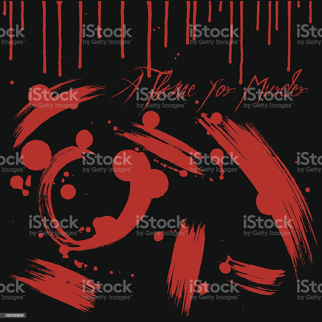 Theme for Murder royalty-free stock vector art