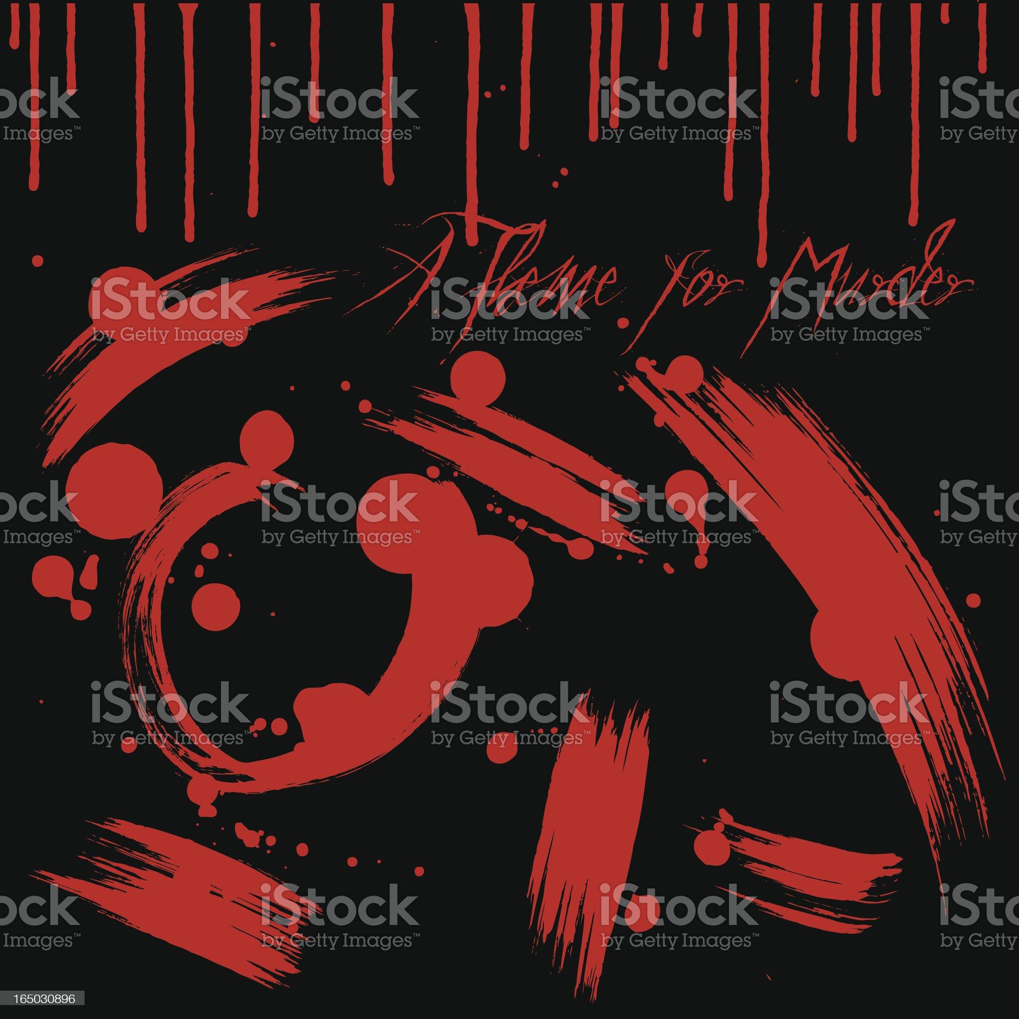 Theme for Murder royalty-free stock vector art