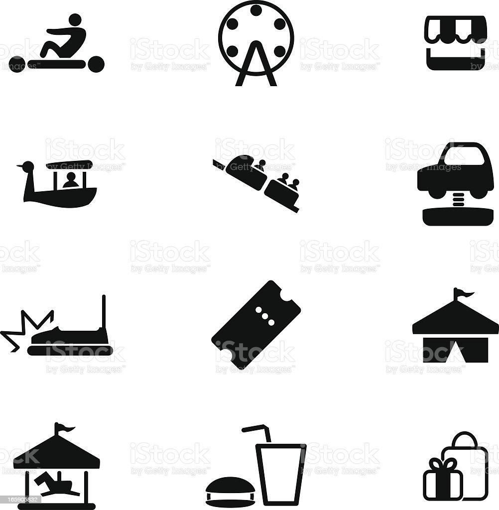 Theme Park Icon Set vector art illustration