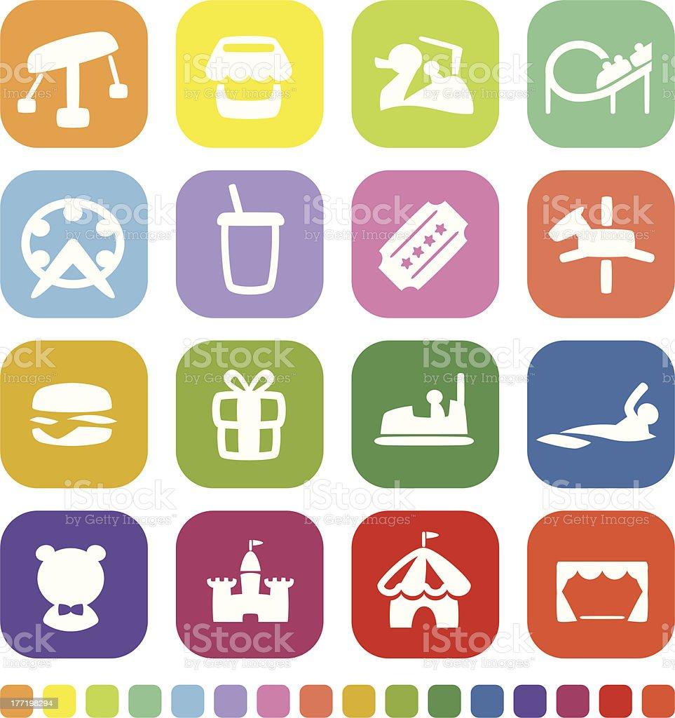 Theme Park Icon royalty-free stock vector art