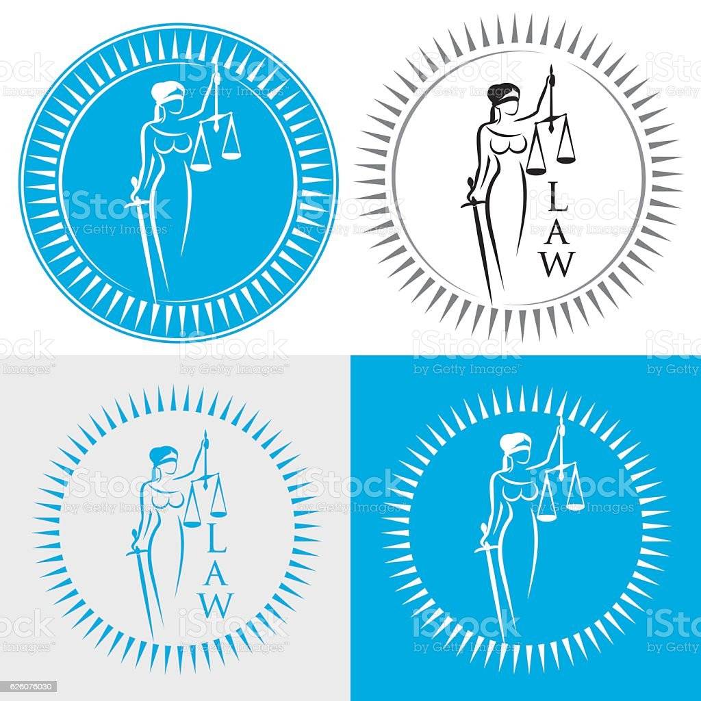 Themis with scales vector art illustration