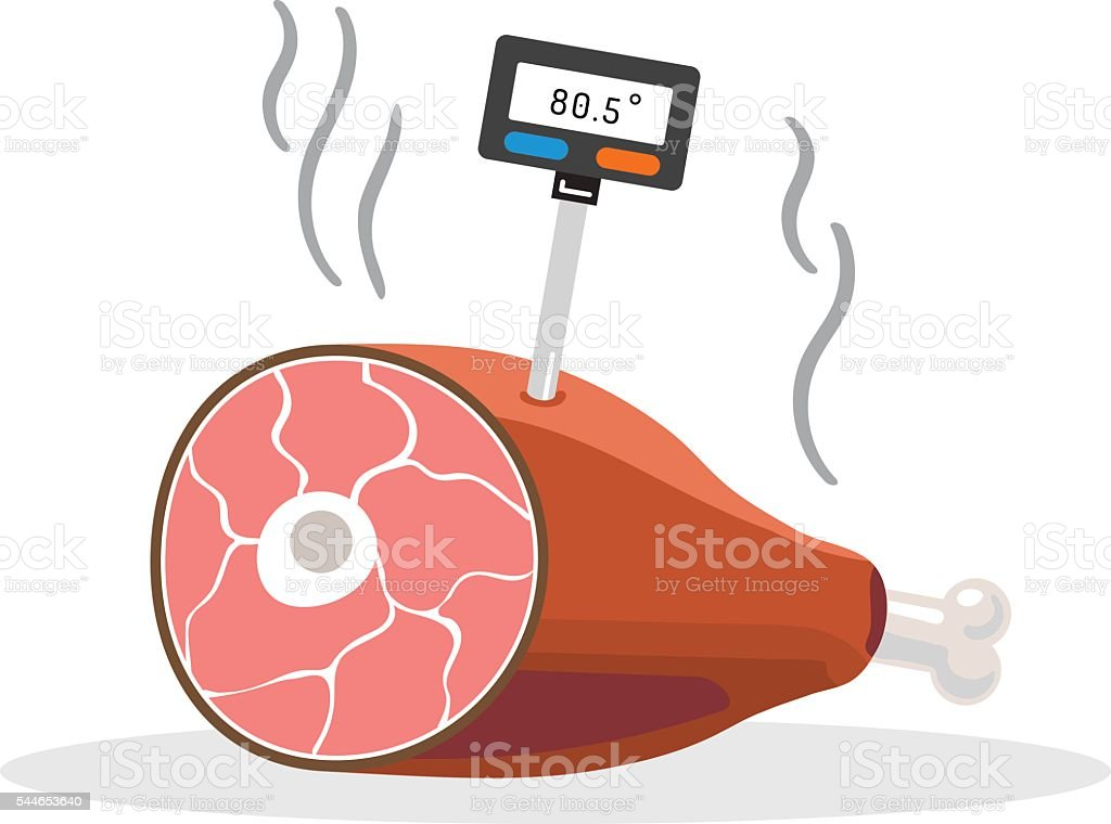 thermometer for food. vector art illustration
