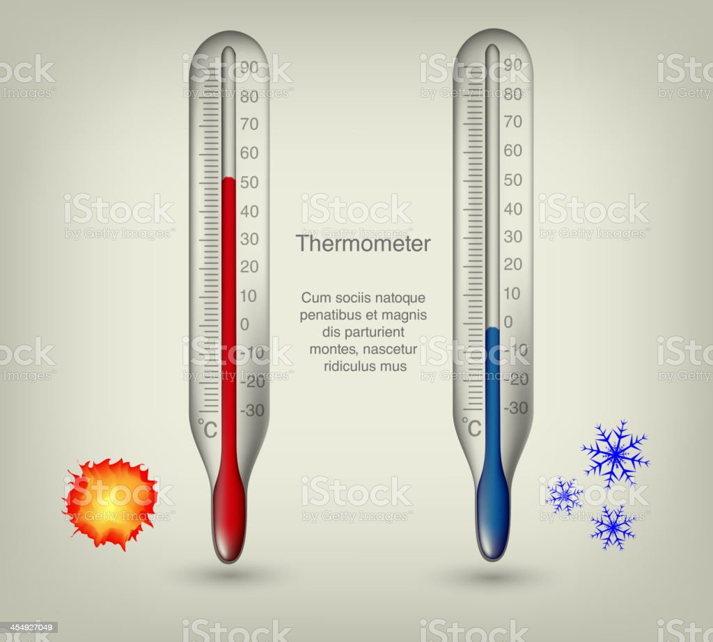 thermometer icons vector art illustration