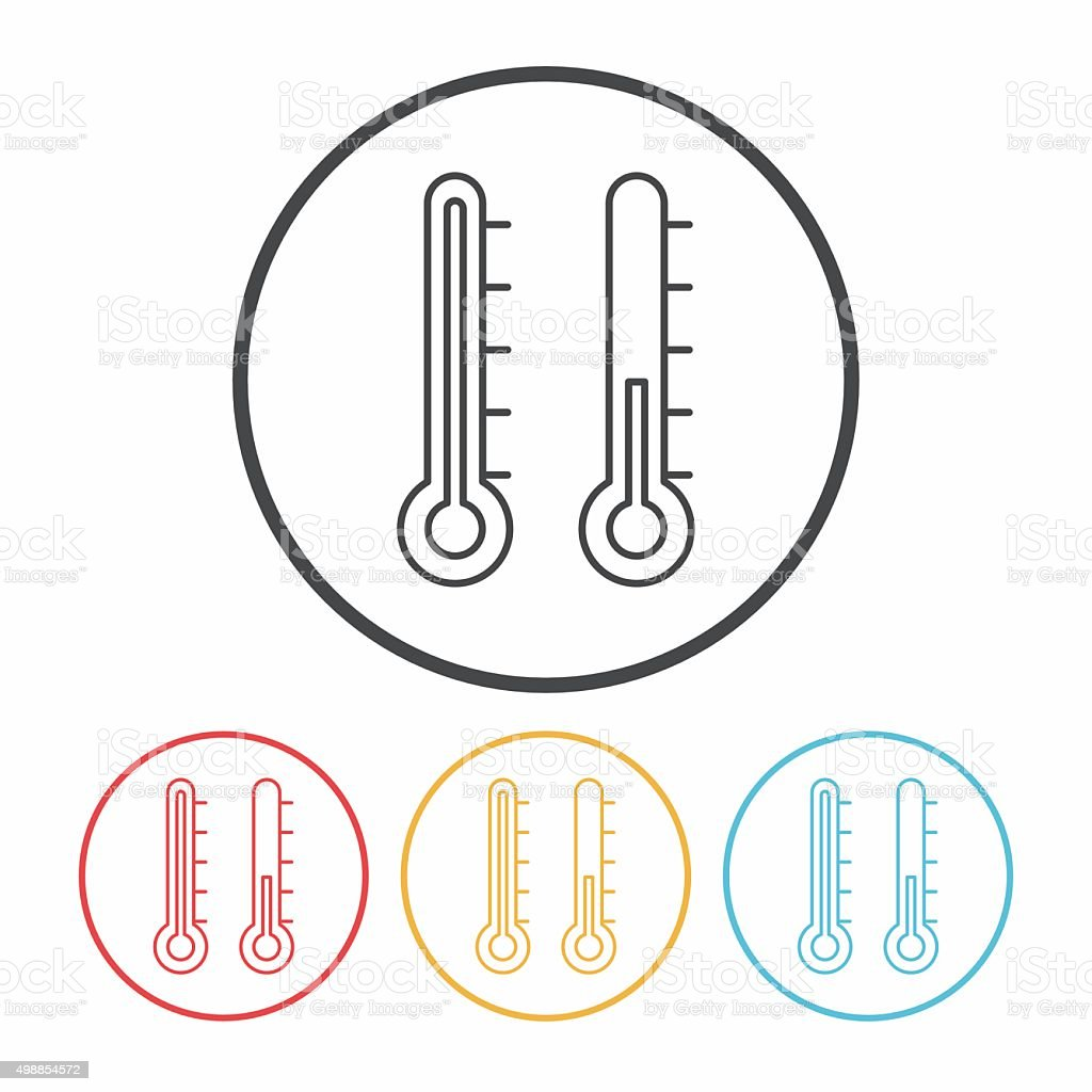Thermometer line icon vector art illustration