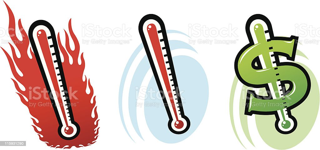 thermometer vector art illustration