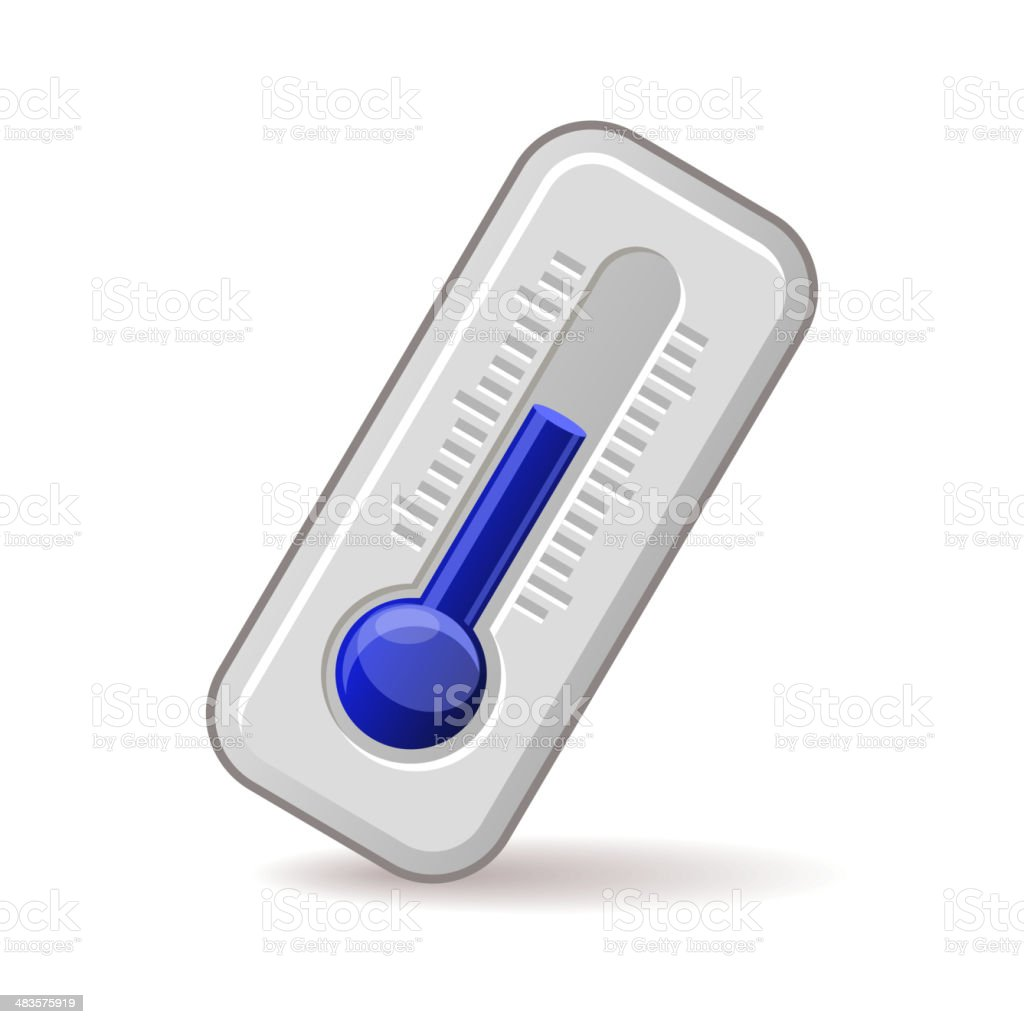 Thermometers Icon With Blue Level. Vector royalty-free stock vector art