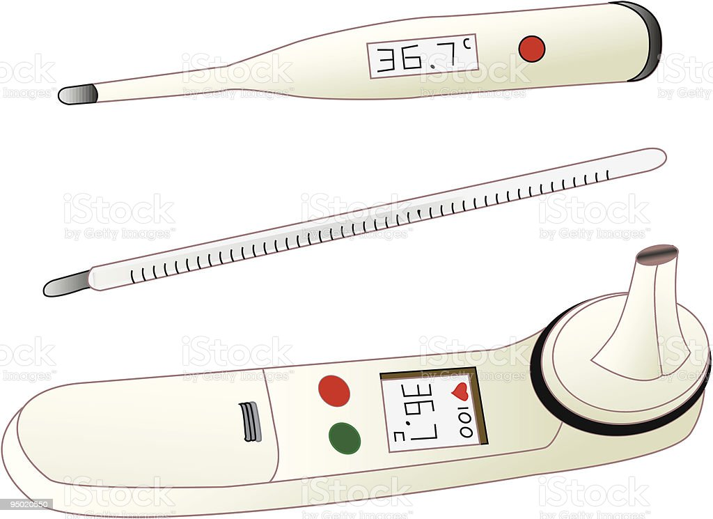 Thermometers royalty-free stock vector art