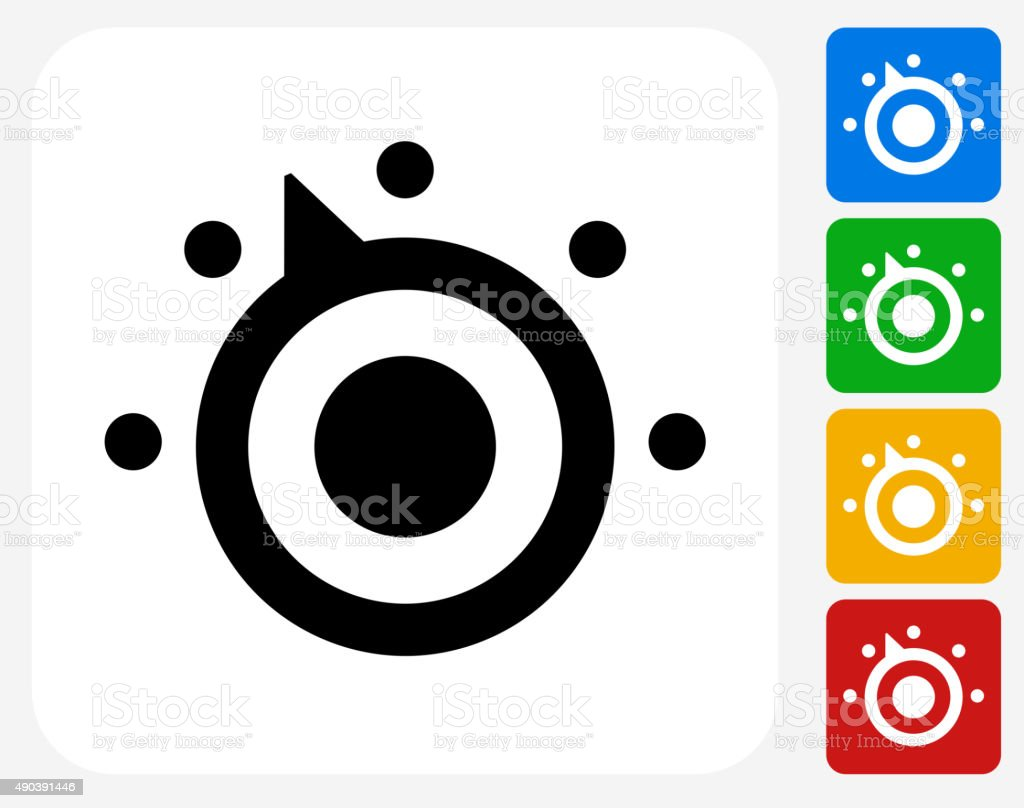 Thermostat Icon Flat Graphic Design vector art illustration