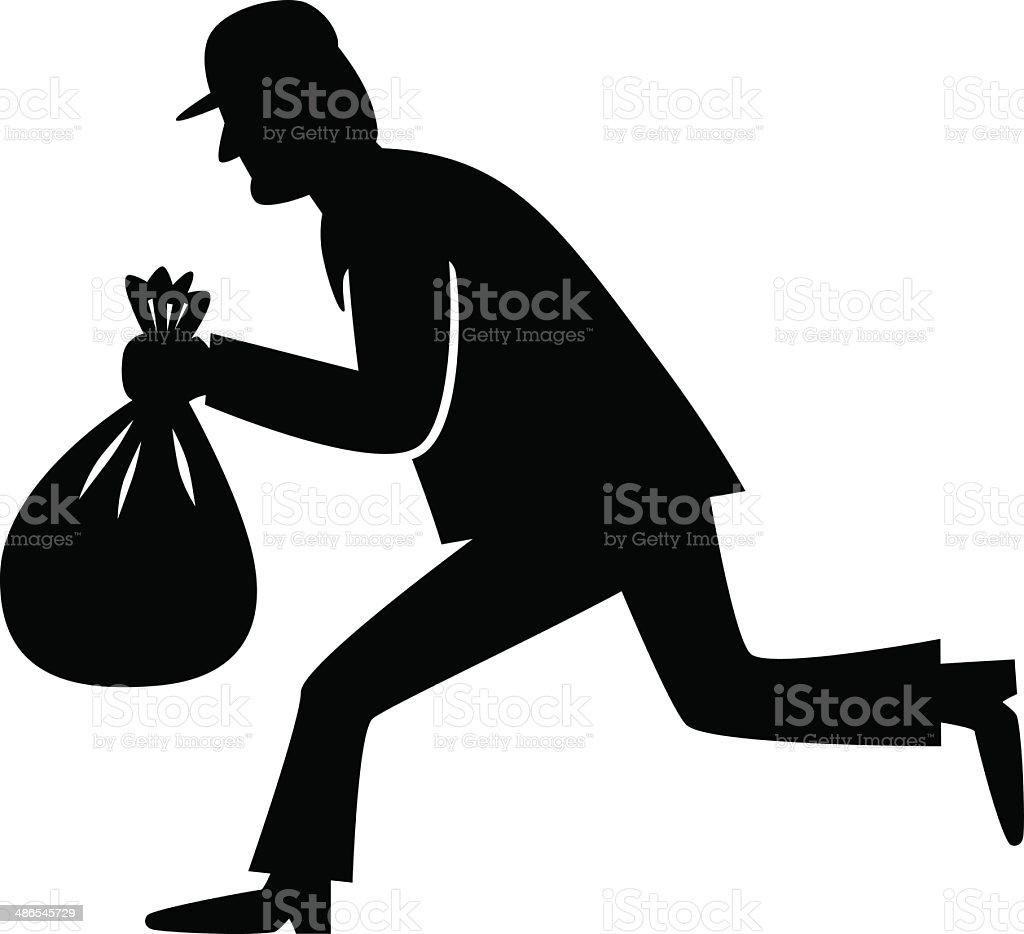 Thief icon vector art illustration