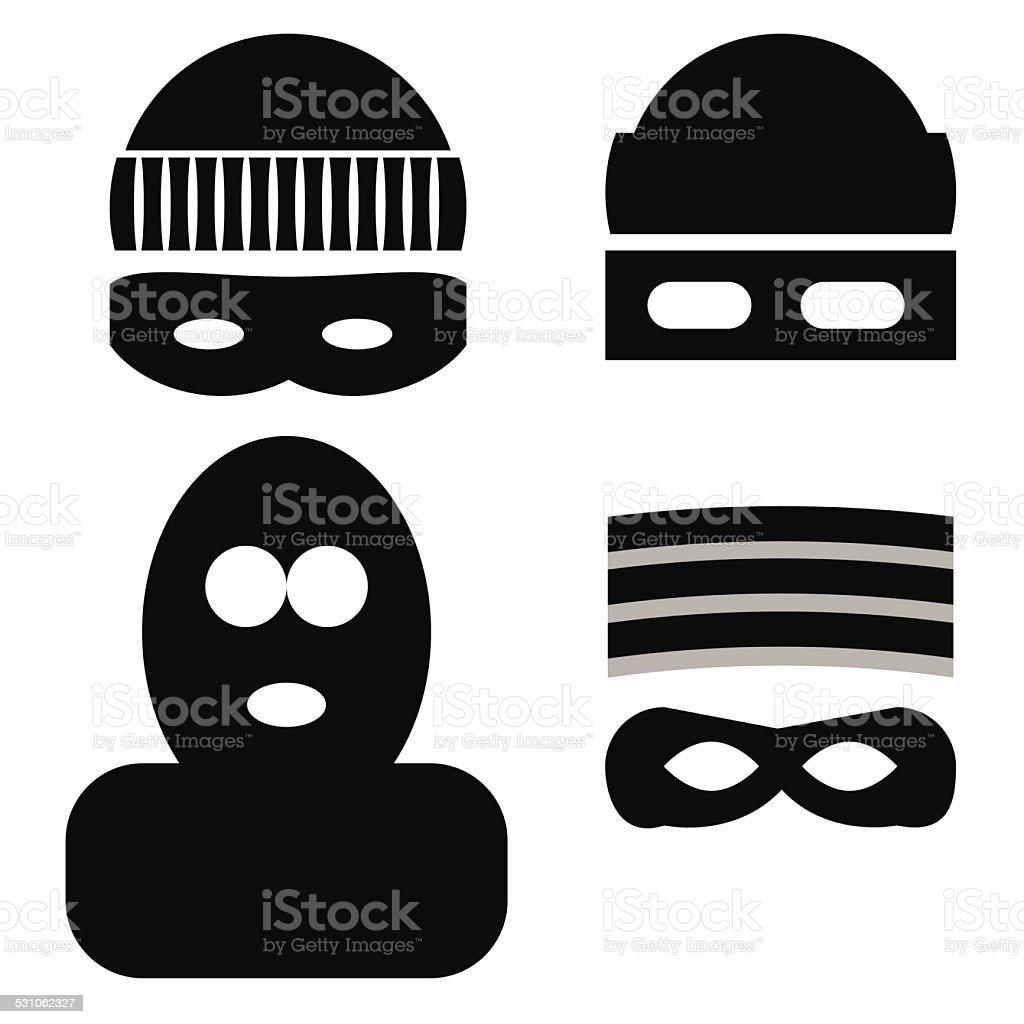 thief icons vector art illustration