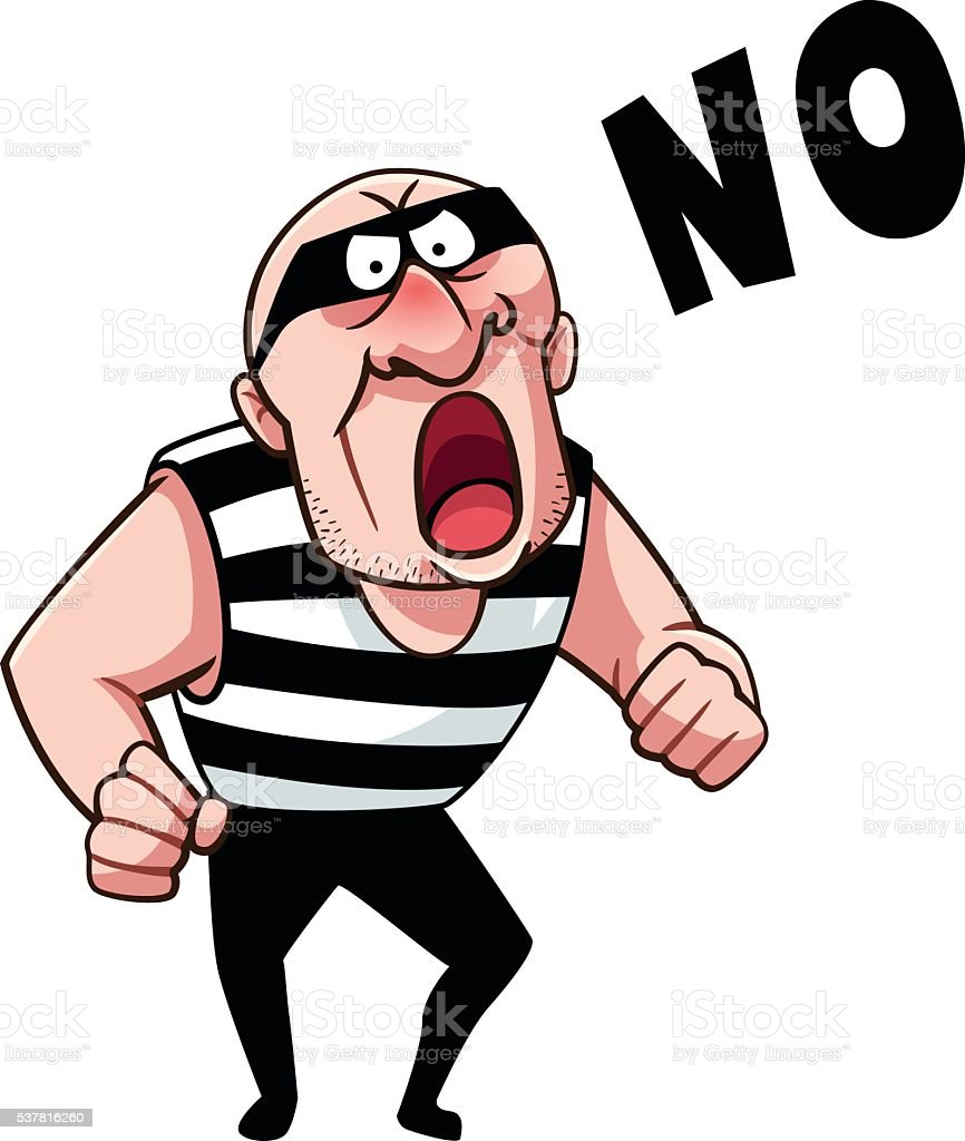 Thief say no royalty-free stock vector art