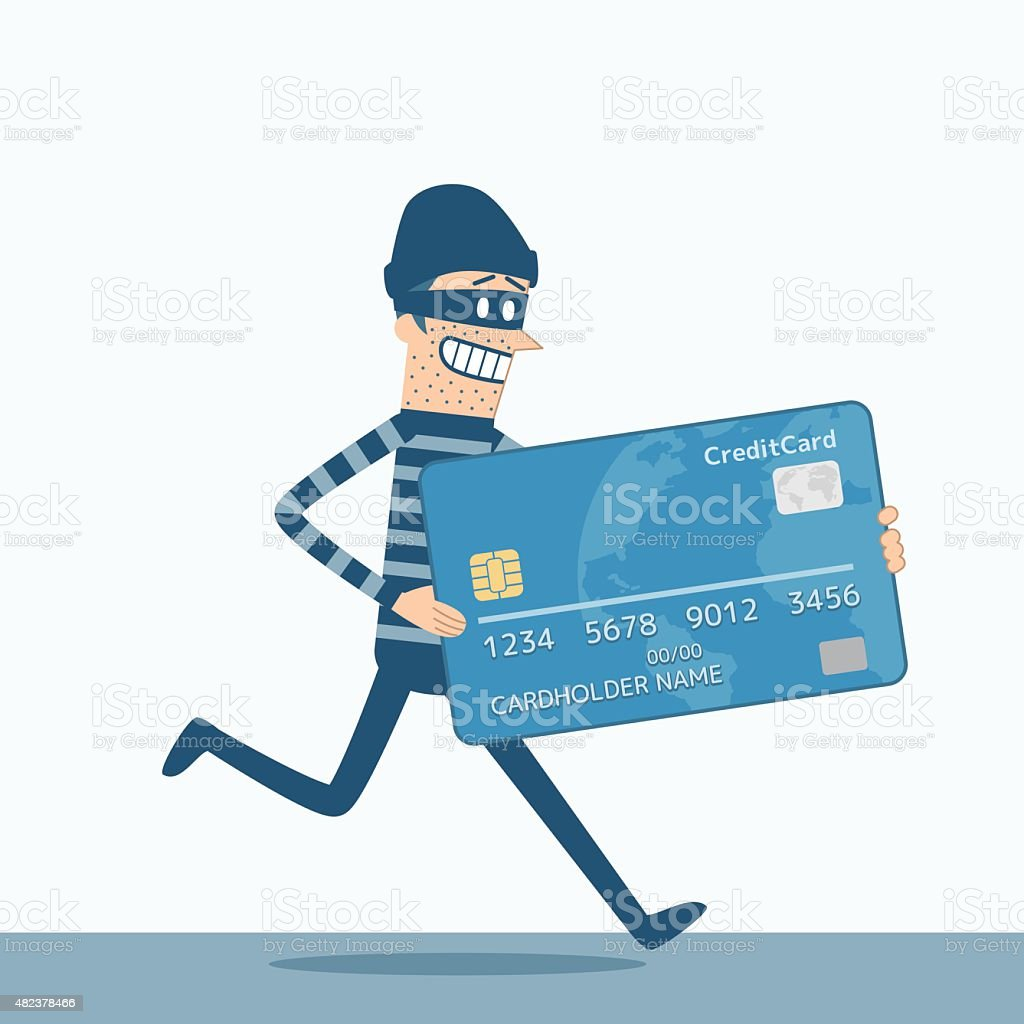 Thief vector art illustration